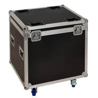 4 SOUNDSATION - Set composto da 4 accecatori 16x30W RGB COB slim modulari con Flight case