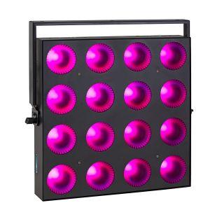 7 SOUNDSATION - Set composto da 4 accecatori 16x30W RGB COB slim modulari con Flight case
