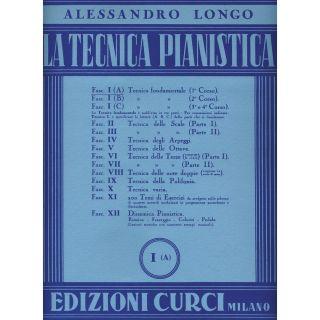Edizioni Curci A. Longo La Tecnica Pianistica Fascicolo 1 Parte A
