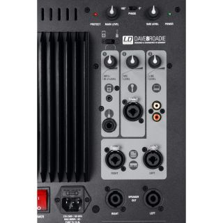 LD Systems Dave 8 Roadie - Sistema PA 2.1 1400W con Mixer 3 Ch06