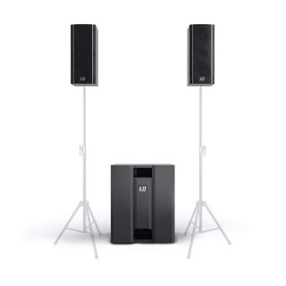 LD Systems Dave 8 Roadie - Sistema PA 2.1 1400W con Mixer 3 Ch05