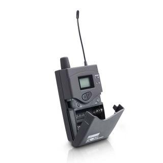 3 LD Systems MEI 1000 G2 BUNDLE - Sistema di monitoraggio in-ear senza fili con 2 x trasmettitore da cintura e 2 x cuffie in-ear