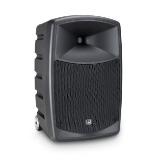 2 LD Systems ROADBUDDY 10 HHD 2 B5 - Battery-Powered Bluetooth Speaker with Mixer and 2 Wireless Microphones