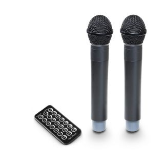 7 LD Systems ROADBUDDY 10 HHD 2 B5 - Battery-Powered Bluetooth Speaker with Mixer and 2 Wireless Microphones