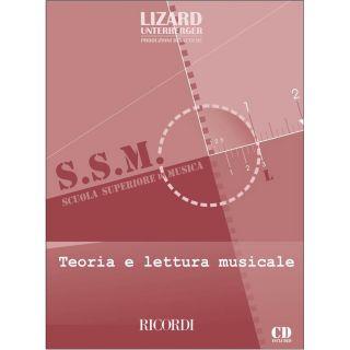 1 Lizard Ricordi Teoria e Lettura Musicale Libro + Cd