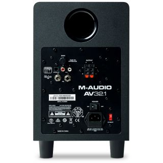 M-Audio av32.1 sub rear