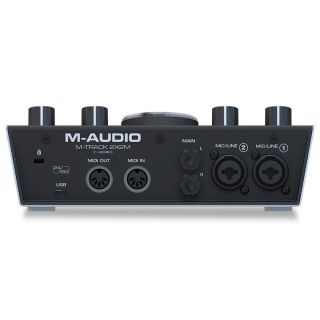 M-audio m-track 2x2m rear