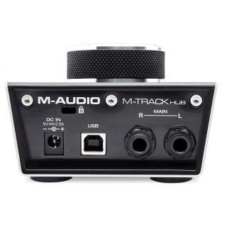 m-audio m-track hub rear