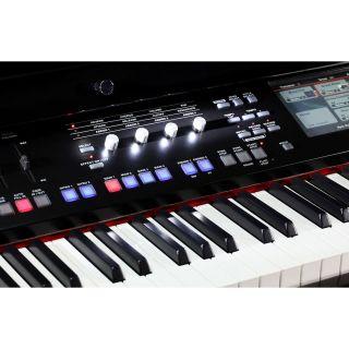 """2 MEDELI GRAND 1000 - Pianoforte Digitale A Coda Con Tastiera A 88 Tasti Hammer Action, Finitura In Nero Laccato E Display Con Touch Screen A Colori Ad Alta Definizione Da 7""""."""
