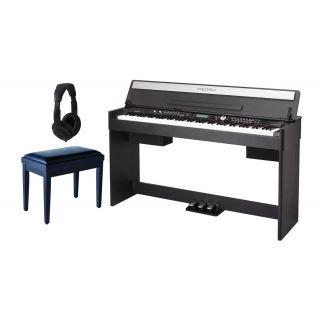 Medeli CDP 5200 BK Set - Pianoforte Digitale Nero / Panchetta / Cuffie