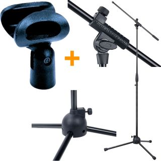 Asta Microfono professionale a Giraffa con Supporto Reggimicrofono Asta Microfonica