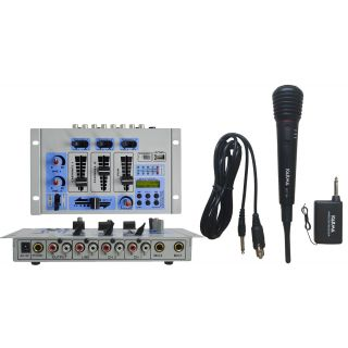 mixer con microfono wireless