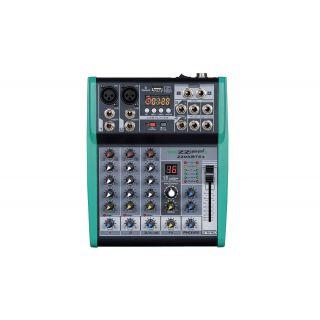 ZZIPP ZZMXBTE4 - Mixer Audio 4ch, lettore MP3, Bluetooth e multieffetto DSP
