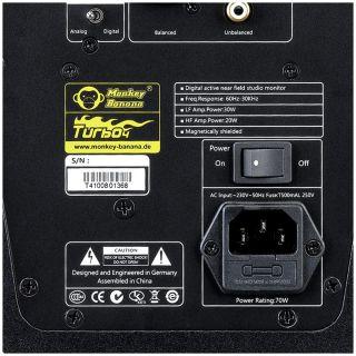 Monkey Banana Turbo 4 Nera - Monitor da Studio Attiva 50W03