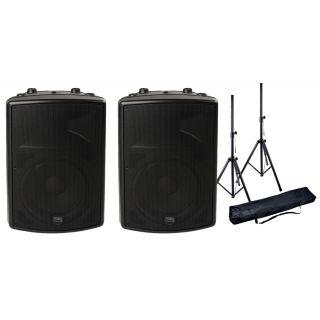 Montarbo FiveO Coppia D12A Diffusori Biamplificati con Speaker Stand