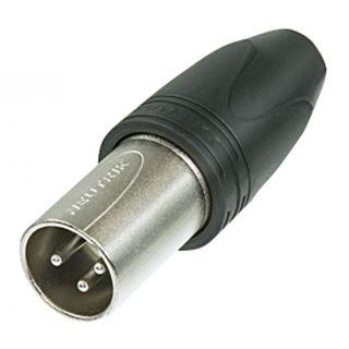 0 Neutrik - XLR 3p. 'Heavy Duty' IP Connector Male - Alloggiamento in metallo nero, contatti in argento