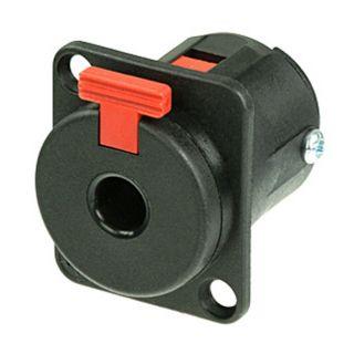 0 Neutrik NJ3FP6C-BAG - Connettore da pannello jack da 6,3 mm a 3 poli nero, a D