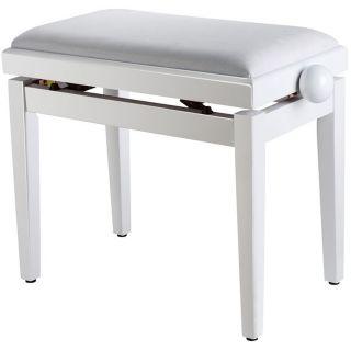 Panchetta Bianca Regolabile per Pianoforte / Seduta in Velluto