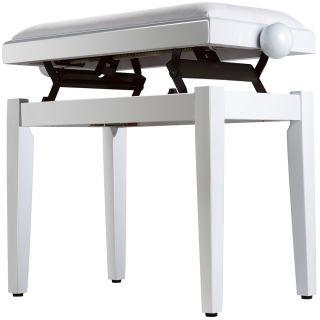 Panchetta Bianca Regolabile per Pianoforte / Seduta in Velluto02