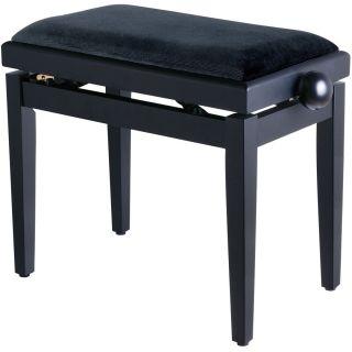 Panchetta Nera Regolabile per Pianoforte / Seduta in Velluto