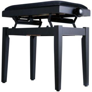 Panchetta Nera Regolabile per Pianoforte / Seduta in Velluto02