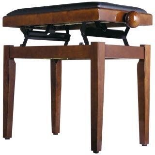 Panchetta Regolabile in Noce per Pianoforte / Seduta in Sky Nero02