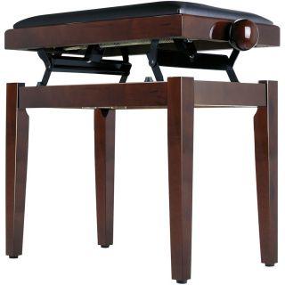 Panchetta Regolabile in Palissandro Lucido per Pianoforte / Seduta in Sky Nero02