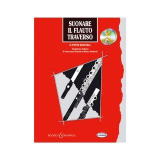 1 Peter Wastall Carisch Suonare Il Flauto Traverso Libro + 2 Cd