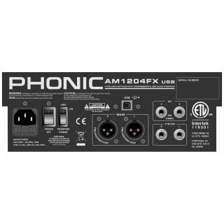 Phonic am1204fxusb rear