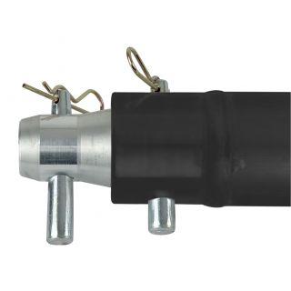 1 Showtec - Single Tube 50mm, 25 cm - Traliccio P con ricevitori femmina, colore: Nero