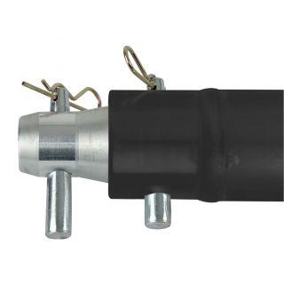 1 Showtec - Single Tube 50mm, 100 cm - Traliccio P con ricevitori femmina, colore: Nero