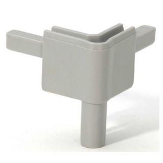 0 Adam Hall Hardware Q 4502 FAG - Angolo femmina grigio alluminio per Profilo di Chiusura
