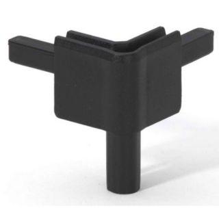0 Adam Hall Hardware Q 4502 FBLK - Angolo femmina nero per Profilo di Chiusura