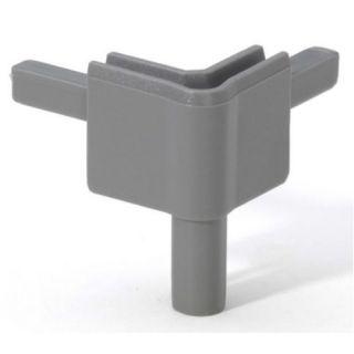 0 Adam Hall Hardware Q 4502 FMG - Angolo femmina grigio medio per Profilo di Chiusura