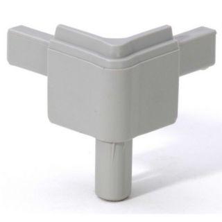 0 Adam Hall Hardware Q 4502 MAG - Angolo maschio grigio alluminio per Profilo di Chiusura
