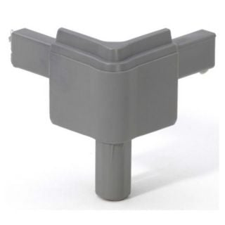 0 Adam Hall Hardware Q 4502 MMG - Angolo maschio grigio medio per Profilo di Chiusura