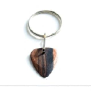 1 TIMBERTONES - Portachiavi con plettro in legno Macassar Ebony