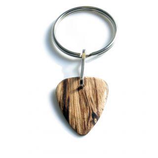 0 TIMBERTONES - Portachiavi con plettro in legno Zebrawood
