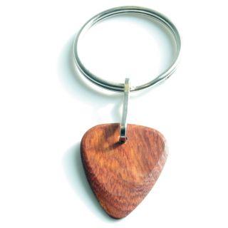 0 TIMBERTONES - Portachiavi con plettro in legno Bloodwood