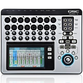 QSC Touch Mix 16 con Flight Case Trolley03