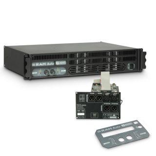 0 Ram Audio S 2000 DSP - Finale di potenza PA 2 x 1190 W 2 Ohm incl. modulo DSP