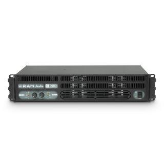 2 Ram Audio S 2000 DSP GPIO - Finale di potenza PA 2 x 1190 W 2 Ohm incl. modulo DSP e GPIO