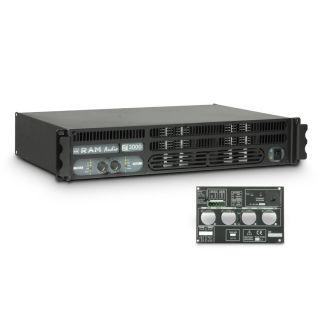 0 Ram Audio S 3000 GPIO - Finale di potenza PA 2 x 1570 W 2 Ohm incl. modulo GPIO