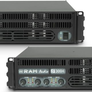 4 Ram Audio S 3004 X OVER - Finale di potenza PA 4 x 700 W 2 Ohm incl. modulo processore analogico