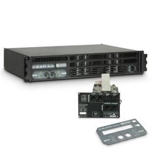 0 Ram Audio S 4000 DSP - Finale di potenza PA 2 x 1950 W 2 Ohm incl. modulo DSP