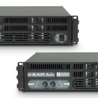 4 Ram Audio S 6000 DSP GPIO - Finale di potenza PA 2 x 2950 W 2 Ohm incl. modulo DSP e GPIO