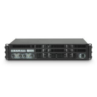 2 Ram Audio S 6004 DSP GPIO - Finale di potenza PA 4 x 1440 W 2 Ohm incl. modulo DSP e GPIO