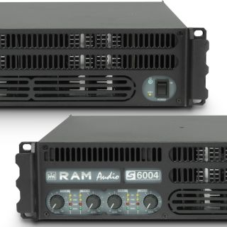 4 Ram Audio S 6004 X OVER - Finale di potenza PA 4 x 1440 W 2 Ohm incl. modulo processore analogico