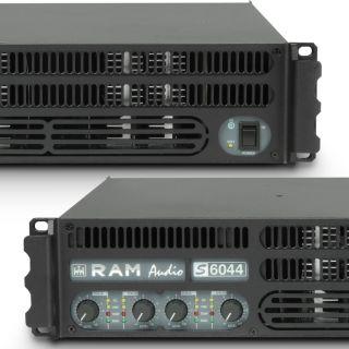 4 Ram Audio S 6044 X OVER - Finale di potenza PA 4 x 1480 W 4 Ohm incl. modulo processore analogico