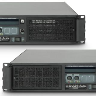 4 Ram Audio W 12000 DSP AES - Finale di potenza PA 2 x 5900 W 2 Ohm incl. modulo DSP con ingresso digitale AES/EBU